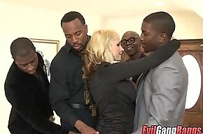White Girl Banged Out by Black Cocks 005